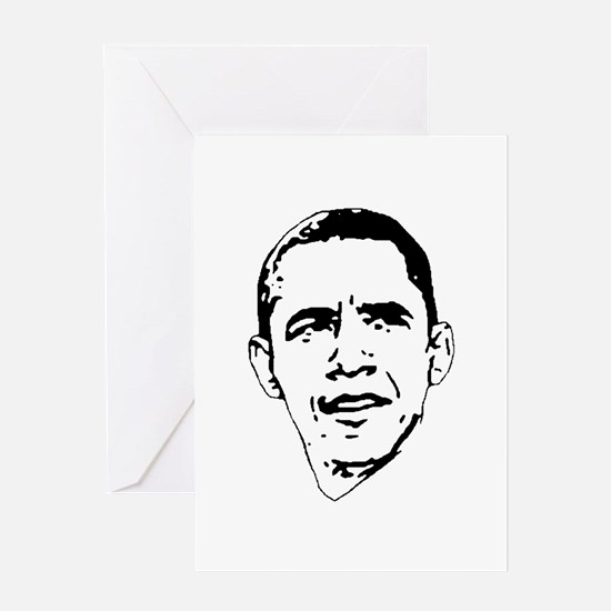 Obama Line Portrait Greeting Card