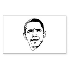 Obama Line Portrait Rectangle Decal
