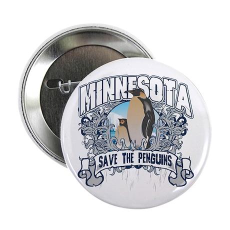 "Save the Penguins Minnesota 2.25"" Button"