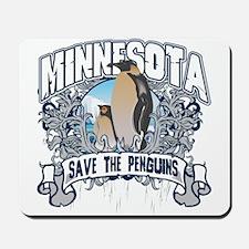 Save the Penguins Minnesota Mousepad