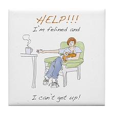 Funny Lap Cat Tile Coaster