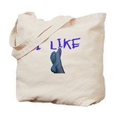 I Like Feet (Female Feet Blue Tote Bag
