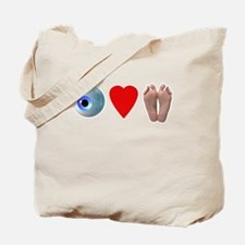 Eye Heart Feet 2 Tote Bag