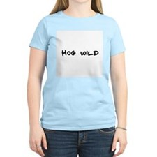 Hog wild Women's Pink T-Shirt