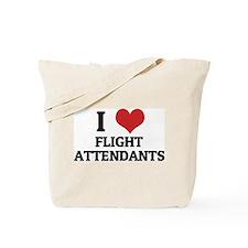 I Love Flight Attendants Tote Bag