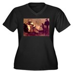 The Rape Women's Plus Size V-Neck Dark T-Shirt