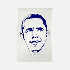 Obama Line Portrait Rectangle Magnet