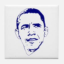 Obama Line Portrait Tile Coaster