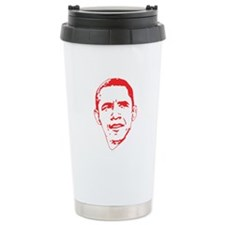 Obama Line Portrait Travel Mug