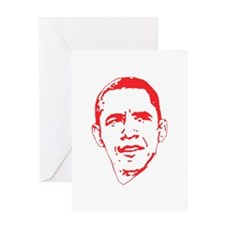 Obama Line Portrait Greeting Card