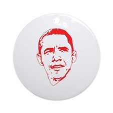 Obama Line Portrait Ornament (Round)