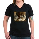 Dance Class Women's V-Neck Dark T-Shirt