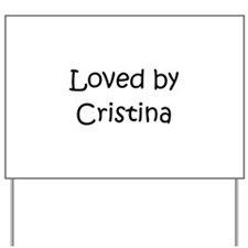 Unique Cristina Yard Sign