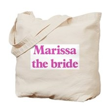 Marissa the bride Tote Bag
