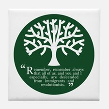 Immigrations & Revolutionists Tile Coaster