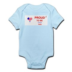 PROUD TO BE A U.S.A. BABY Infant Creeper