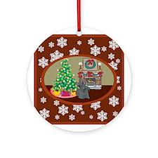 Classic Scottie Ornament (Round)