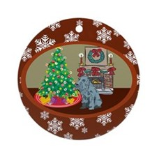 Classic Schnauzer Ornament (Round)