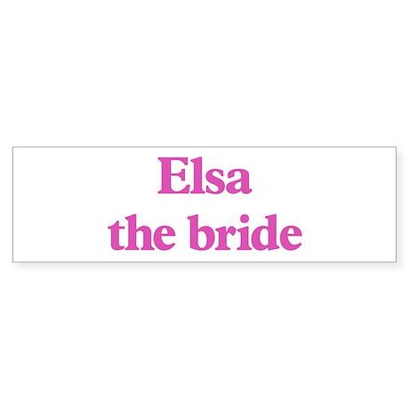 Elsa the bride Bumper Sticker