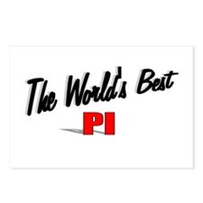 """The World's Best PI"" Postcards (Package of 8)"