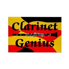Clarinet Genius Rectangle Magnet