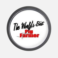"""The World's Best Pig Farmer"" Wall Clock"