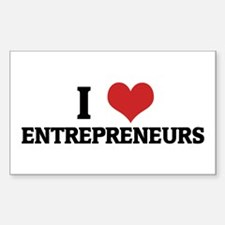 I Love Entrepreneurs Rectangle Decal