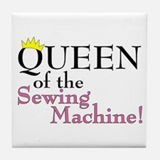 Cute Knitting queen Tile Coaster