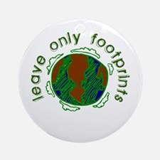 Leave Only Footprints Ornament (Round)