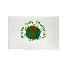 Leave Only Footprints Rectangle Magnet