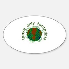 Leave Only Footprints Oval Decal