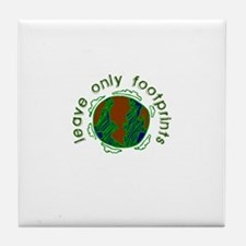 Leave Only Footprints Tile Coaster