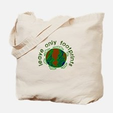 Leave Only Footprints Tote Bag