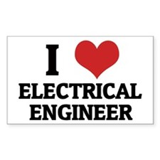 I Love Electrical Engineer Rectangle Decal