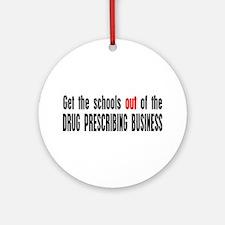 No More Drugs Ornament (Round)