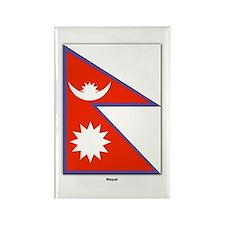 Nepal Nepalese Flag Rectangle Magnet