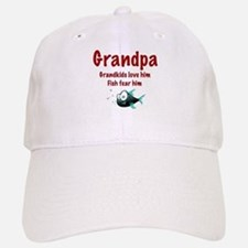 Grandpa - Fish fear him Baseball Baseball Cap