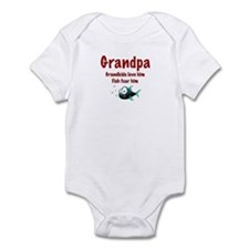 Grandpa - Fish fear him Infant Bodysuit