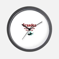 Grandpa - Fish fear him Wall Clock