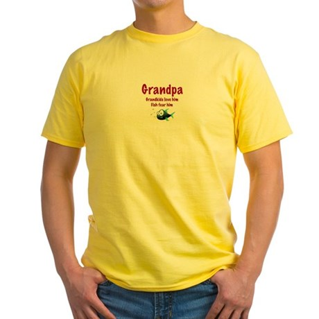 Grandpa - Fish fear him Yellow T-Shirt