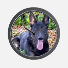 Black German Shepard Wall Clock