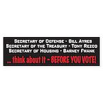 Obama Cabinet Bumper Sticker (10 pk)
