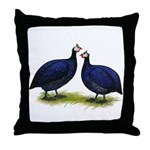 Royal Purple Guineas Throw Pillow