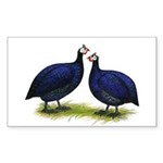 Royal Purple Guineas Rectangle Sticker 50 pk)
