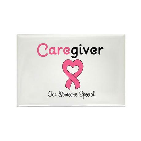 Caregiver Breast Cancer Rectangle Magnet