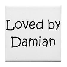 Funny Damian Tile Coaster