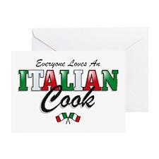 Love Italian Cooks Greeting Card