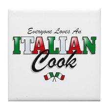 Love Italian Cooks Tile Coaster
