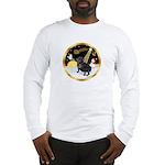 Night Flight/Pug (black) Long Sleeve T-Shirt