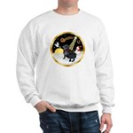 Night Flight/Pug (black) Sweatshirt